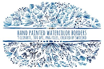 Watercolor Floral Borders, Ornaments