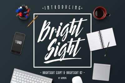 Bright Sight - 2 Fonts
