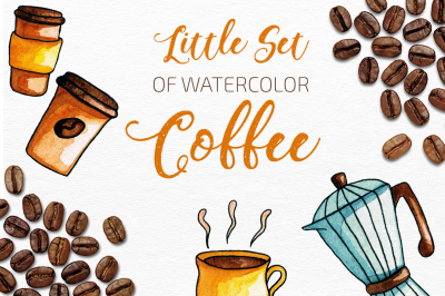 Little Coffee Watercolor Set