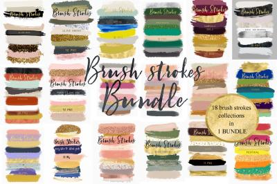Brush strokes BUNDLE