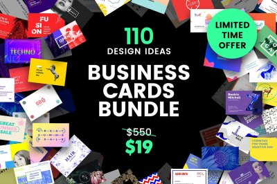 110 in 1 Business Card Templates Bundle