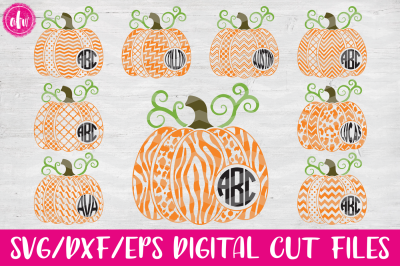 Halloween Pumpkins - SVG, DXF, EPS Cut File
