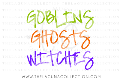 Goblins Ghost Witches SVG, Halloween SVG, Spooky SVG, Trick or Treat