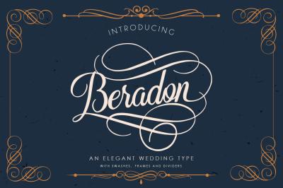 Beradon Script -Elegant Wedding font