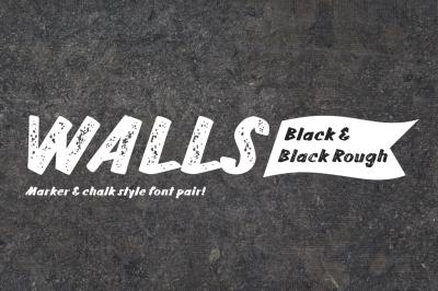 Walls Black & Walls Rough Black