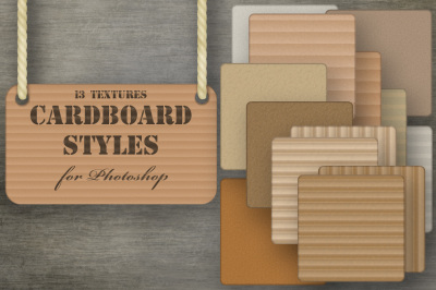 Cardboard layer styles Collection