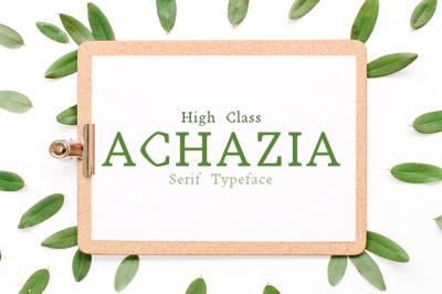Achazia Serif Typeface