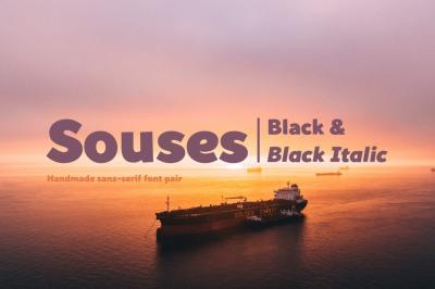 Souses — Black & Black Italic