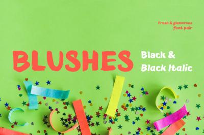 Blushes — Black & Black Italic