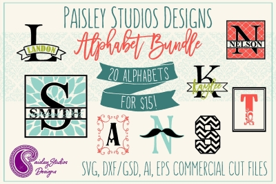 Paisley Studios Designs Alphabet Bundle