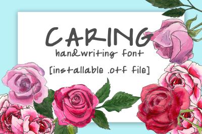Caring Font
