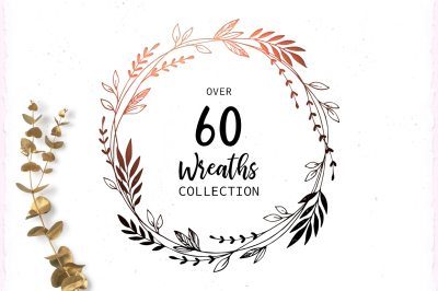 Big Wreaths collection. Floral clipart