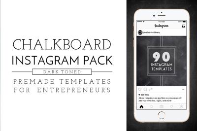 Dark Chalkboard Instagram Pack
