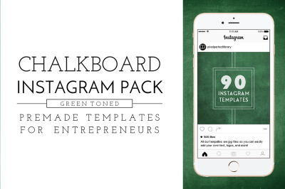 Green Chalkboard Instagram Pack
