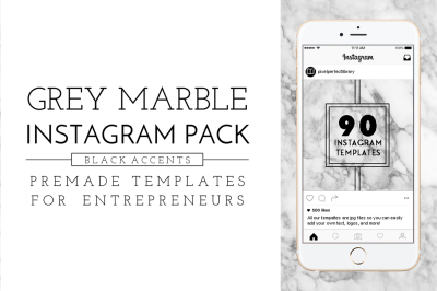 Marble & Black Instagram Pack