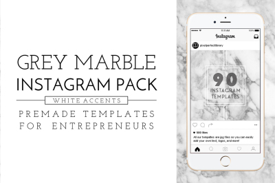 Marble & White Instagram Pack