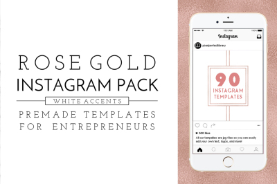 Rose Gold Instagram Pack