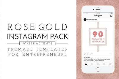 Rose Gold Instagram Pack