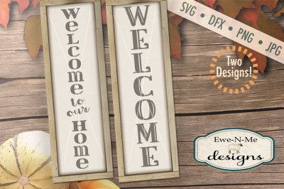 Welcome SVG Bundle - Vertical