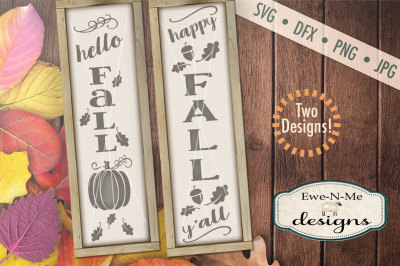 Hello Fall SVG Bundle - Vertical