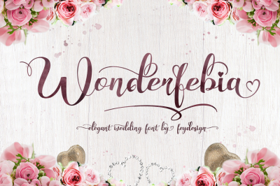Wonderfebia - Script Wedding Font