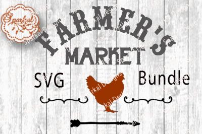 Set of 12 Farmer's Market Cut Files ~ SVG/DXF