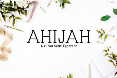 Ahijah A Clean Serif Typeface