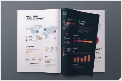Modern editable infographics vol. 01