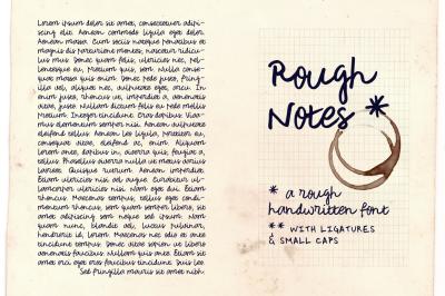 Rough Notes   a handwritten font