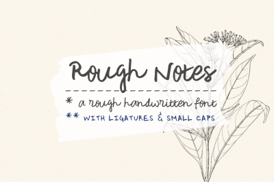 Rough Notes | a handwritten font