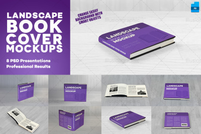 Photorealistic Landscape Book Cover Mockups