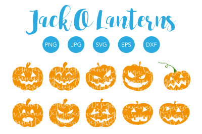 Jack O Lanterns SVG Cut Files and Clipart