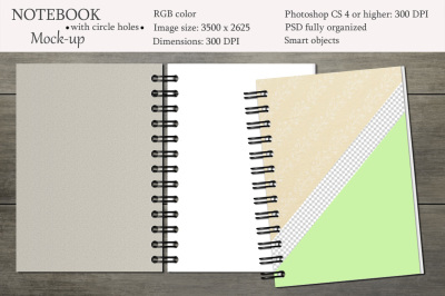 Notebook mockup. Sketchbook mockup.