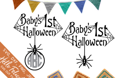 Baby's First Halloween SVG Cutting Files