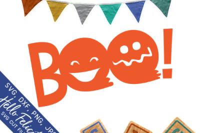 Boo! Halloween SVG Cutting Files
