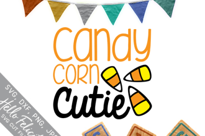 Candy Corn Cutie Halloween SVG Cutting Files