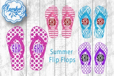 Summer Flip Flops - SVG/DXF Cutting Files