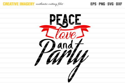 A 'Peace Love and Party' cut file