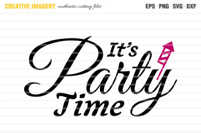 A 'It's Party Time' cut file