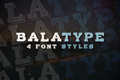 Balatype - 4 Hand Drawn Fonts