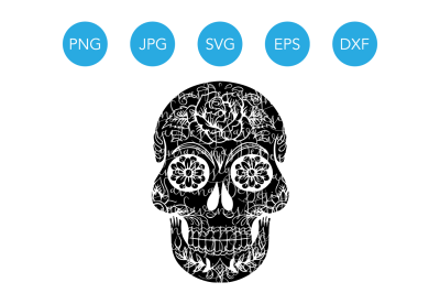 Sugar Skull SVG, Halloween Skull SVG, Skull SVG, Skull Svg Files, Skull Cut File, Skull Cutting Files, Svg Cut File, Cricut Cut file