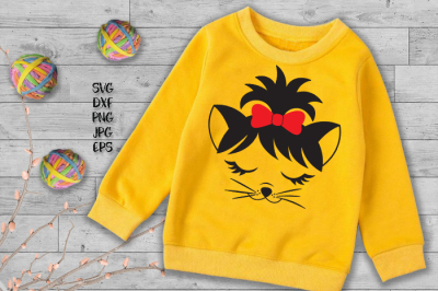 Cat Kitty face SVG file for cut