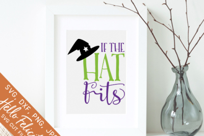 Halloween If The Hat Fits SVG Cutting Files