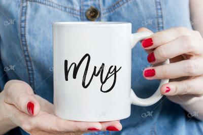 White Mug Mock-up, JPG photo.