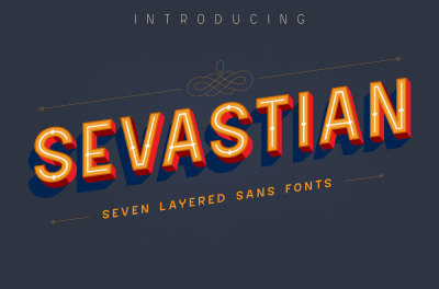 Sevastian - 7 Layered Fonts