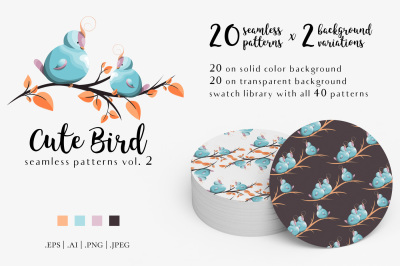 Cute Bird Patterns Vol. 2