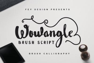 Wowangle Brush Script (Bonus Font)