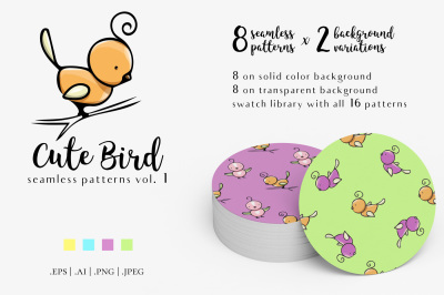 Cute Bird Patterns Vol.1