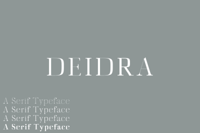 Deidra Serif Typeface
