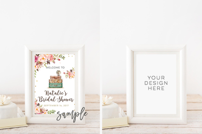 Styled White Frame Mockup Mock Up, white wedding frame mockup, Empty Blank Frame, Art Print Printable Display, instant download white frame